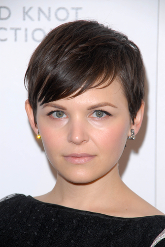 7 hairstyles for round faces - ginnifer goodwin pixie
