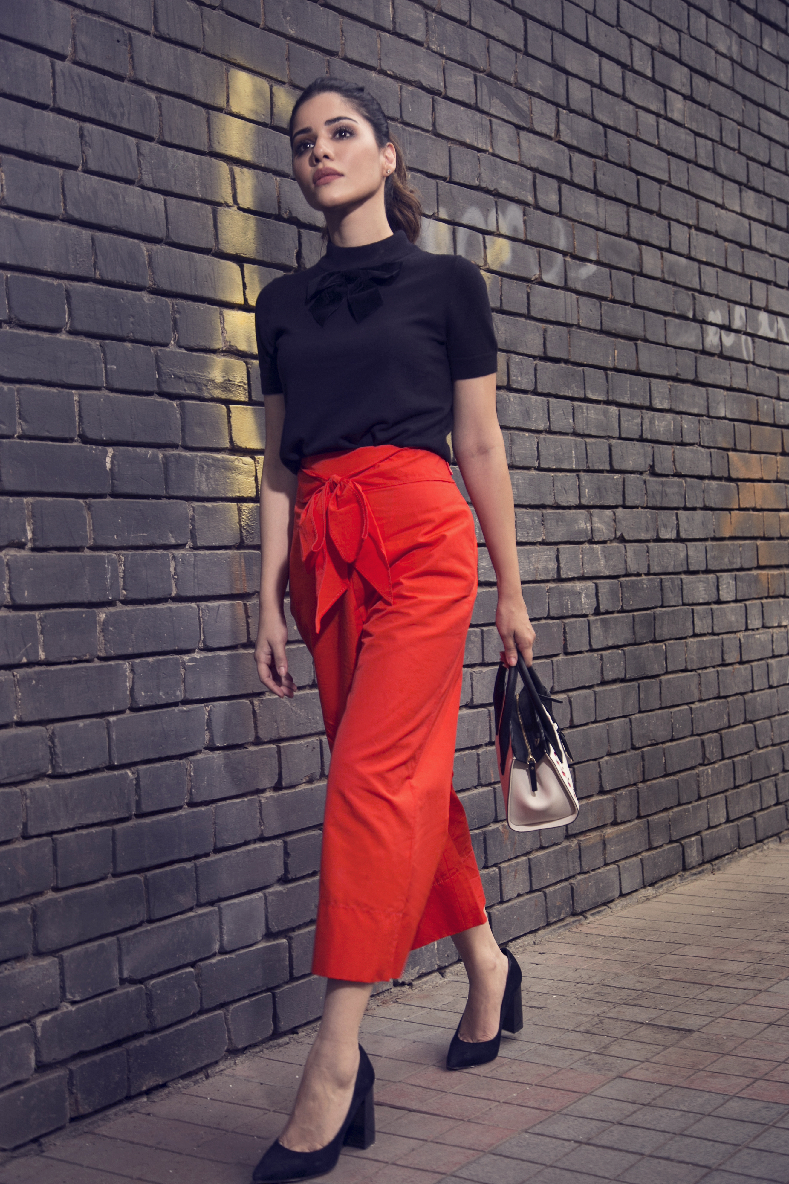 1 street style - Red Culottes