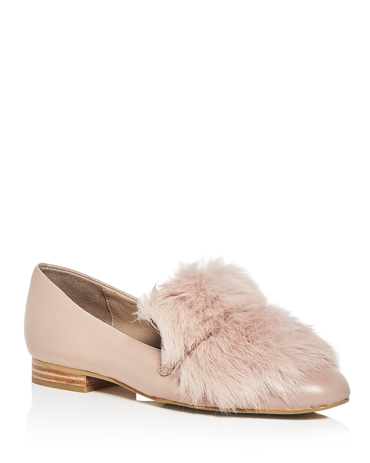 3 loafers - Pink Lillian Leather   Fur Loafers
