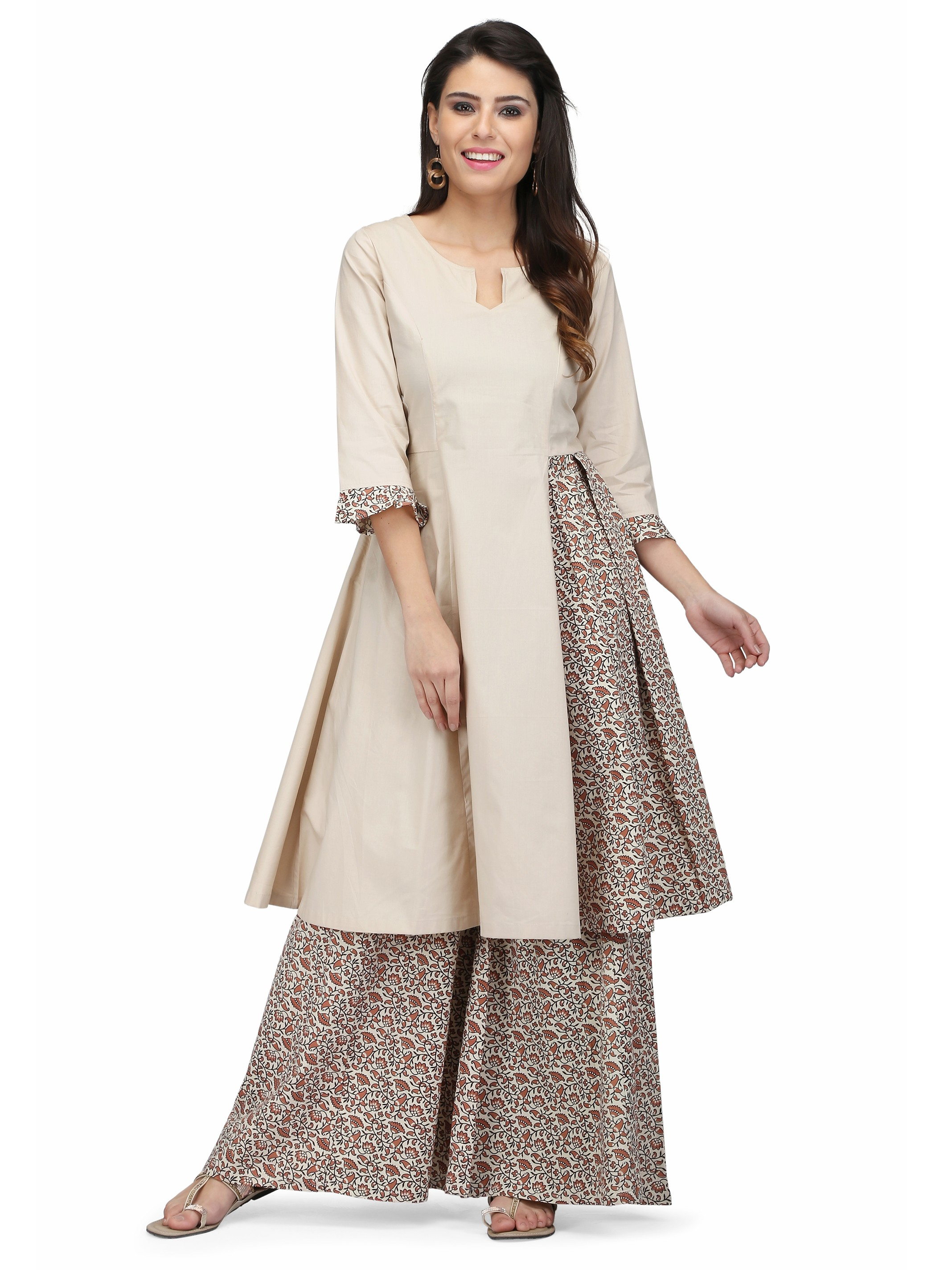 5 fest - Cotton Printed Anarkali