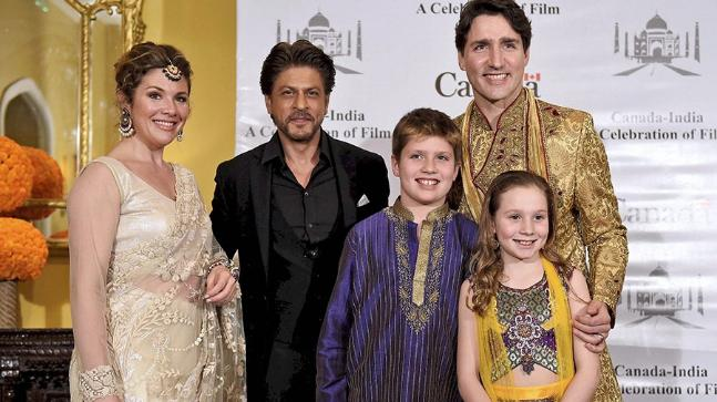 internal - justin trudeau india 2018 SRK