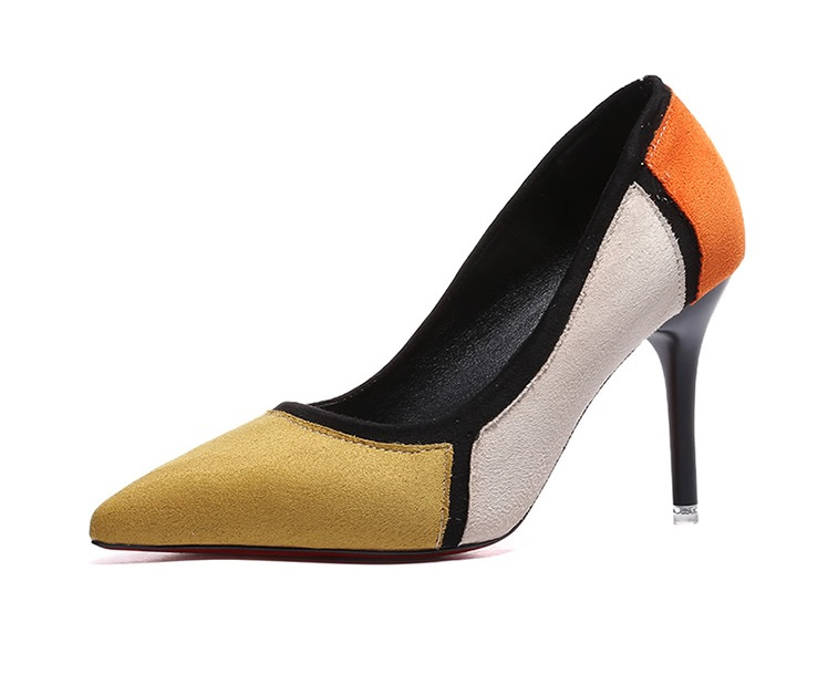 5 stilettos colour block