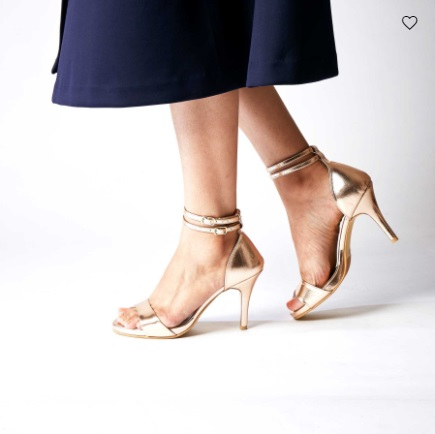 7 stilettos rose gold