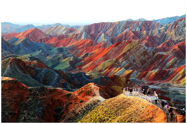 Zhangye Danxia Landform in Gansu  China