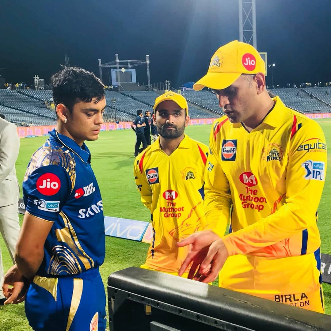 ishan kishan and ms dhoni bonding ipl 18 ms dhoni ishan kishan