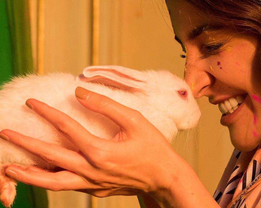 1 anushka sharma with a rabbit  anushka  virushka  virat kohli  birthday