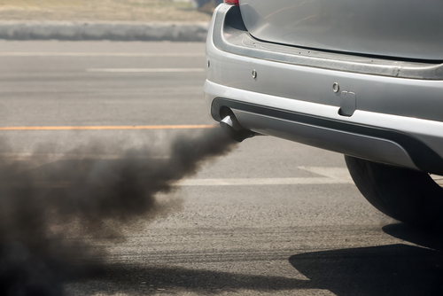 4 pollution - exhaust from car
