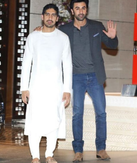 ayan mukerji and ranbir kapoor at isha ambani engagement