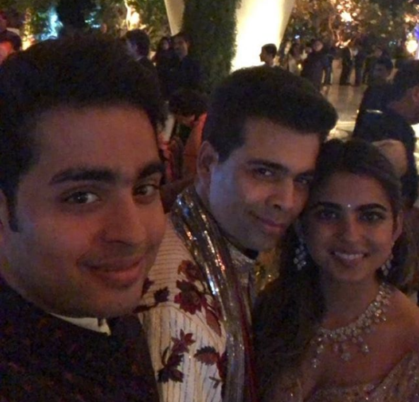 karan  akash and isha ambani