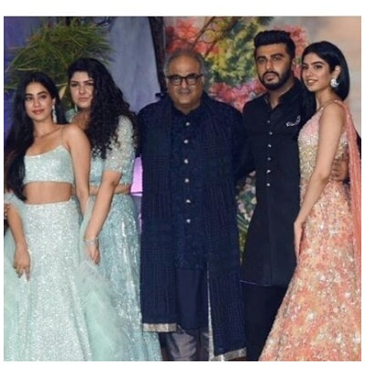 Boney Kapoor with children