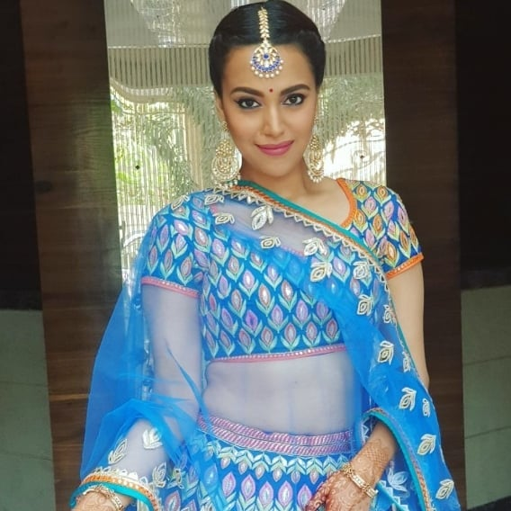 Swara bhaskar at sonam kapoor's wedding