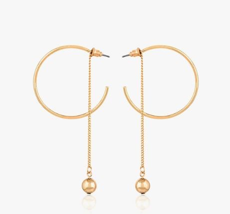 2. hoop earrings gold