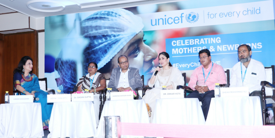 Kareena at Unicef program