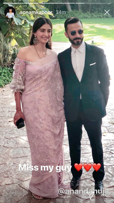 sonam kapoor instagram story for husband anand ahuja
