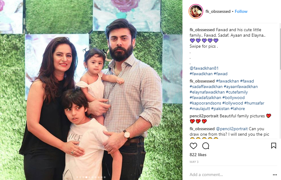 celebrity dads fawad khan family