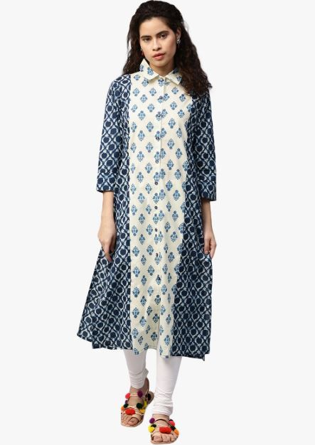 jaipuri kurti buttoned print kurta discounted kurtas cool with jeans