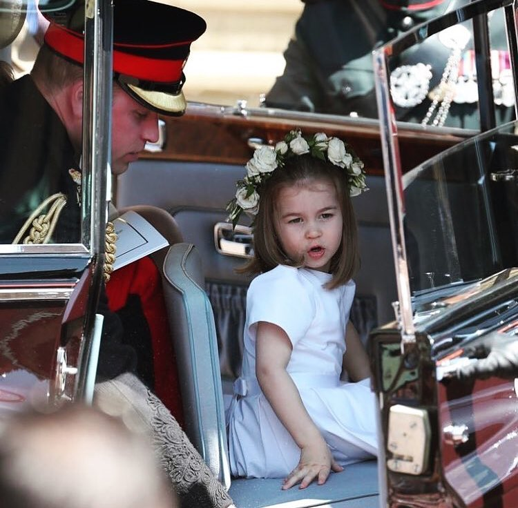 9 princess charlotte leaving meghan markle's wedding