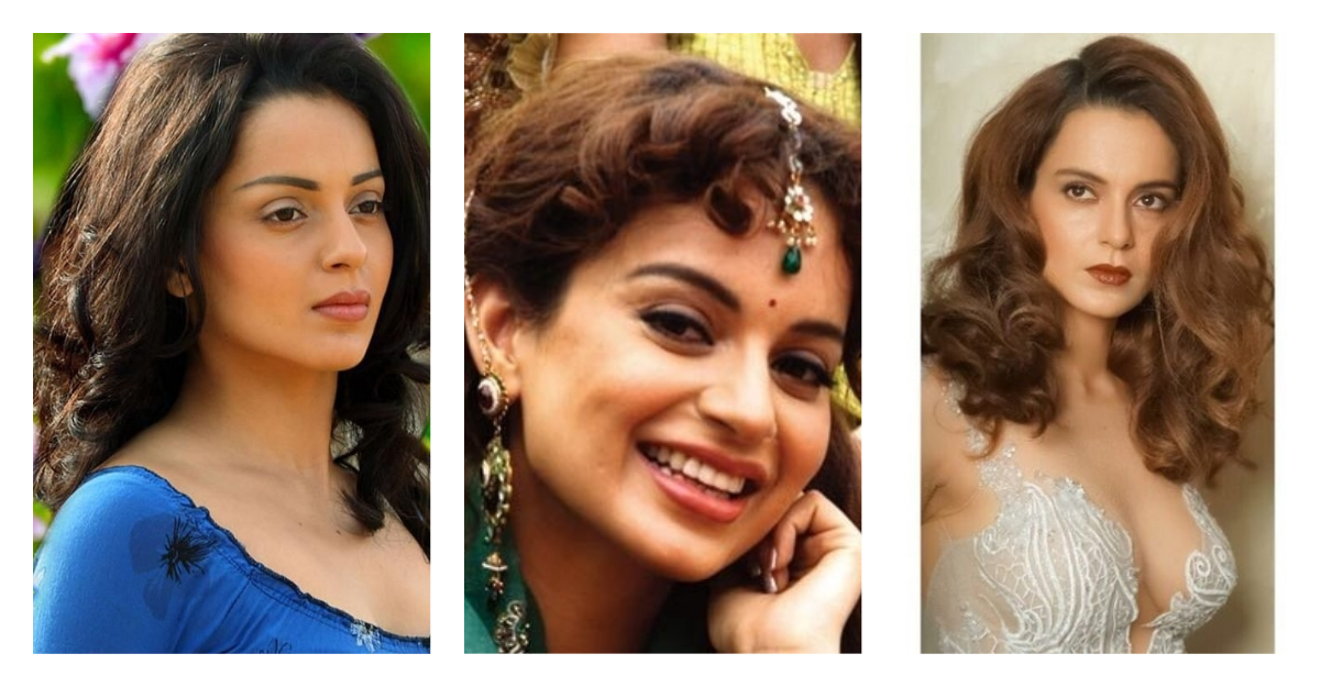 kangana ranaut plastic surgery collage