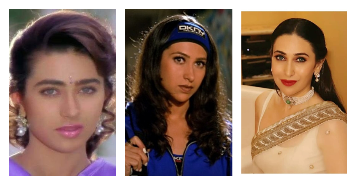 karisma kapoor plastic surgery collage