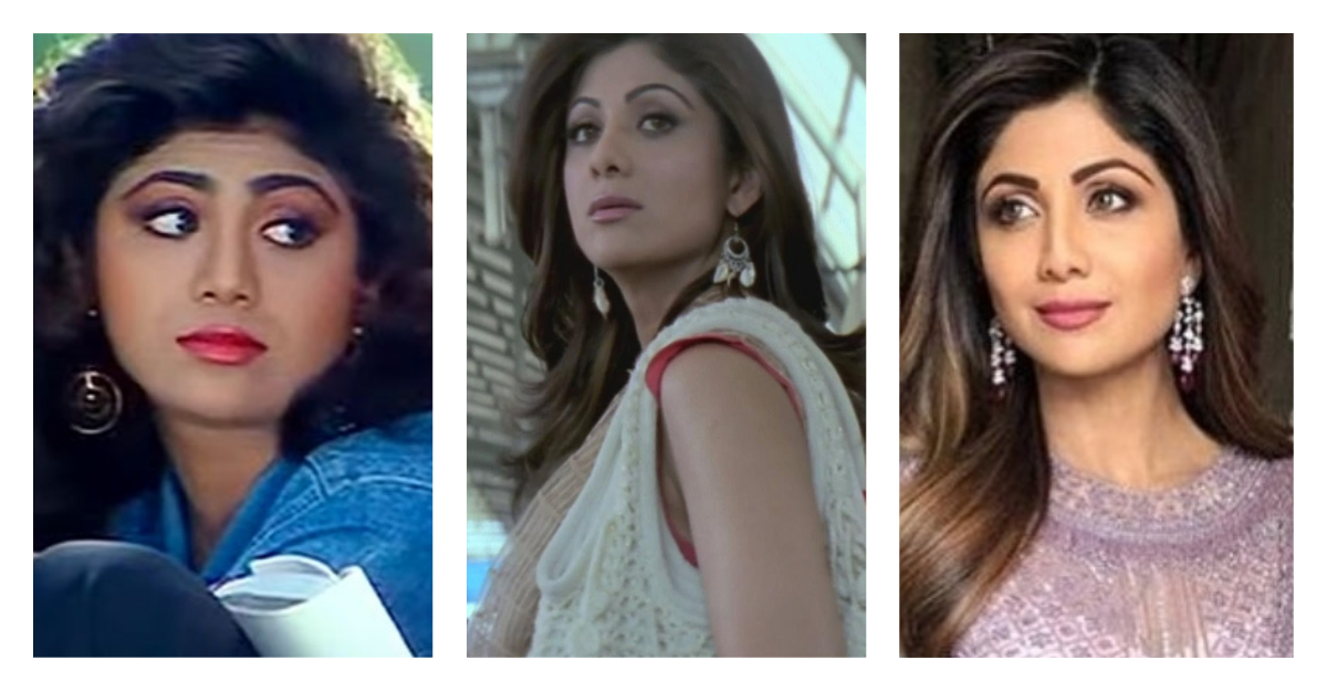 shilpa shetty plastic surgery nose job collage