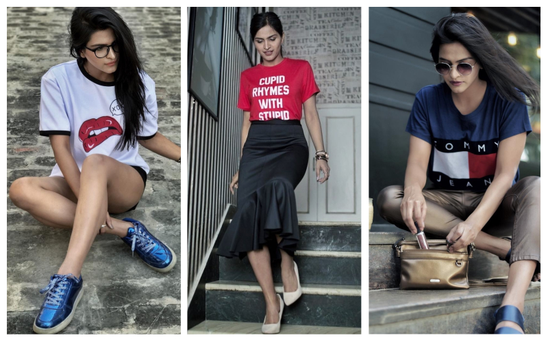 3 bloggers - divyanshi tripathi t-shirt collection