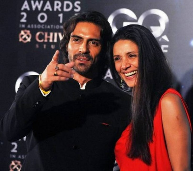 Arjun Rampal and Mehr jessia at an event