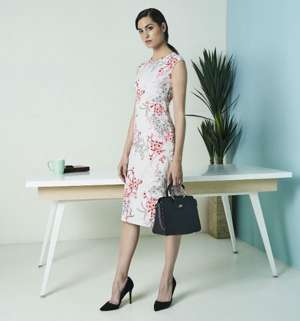 AND Workwear Capsule Summer 18 Floral printed dress Rs 2499