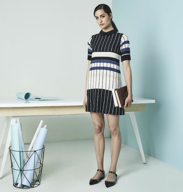 AND Workwear Capsule Summer 18 Stripe dress