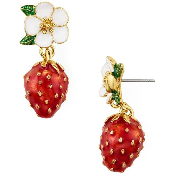 2 kate spade - MULTICOLOR STRAWBERRY DROP EARRINGS