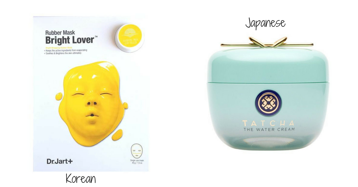 Korean and japanese products Dr Jart Rubber Mask and Tatcha Water Cream