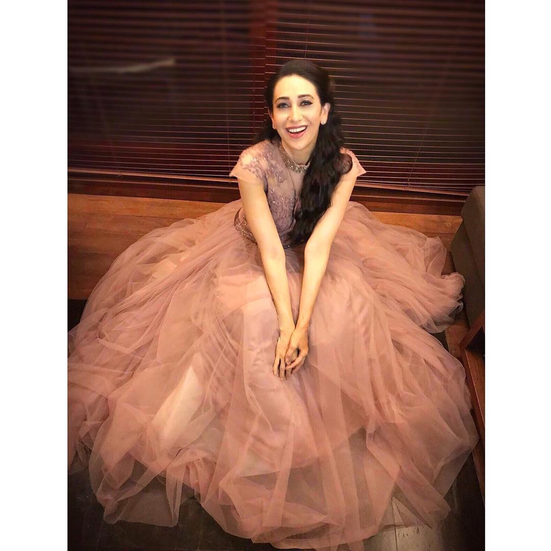 6 karisma kapoor - puffy pink gown