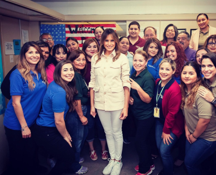 melania detention center visit melania trump's Zara jacket to detention center causes outrage