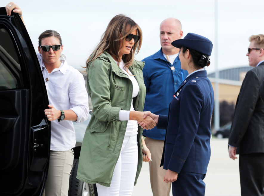 melania melania trump's Zara jacket to detention center causes outrage