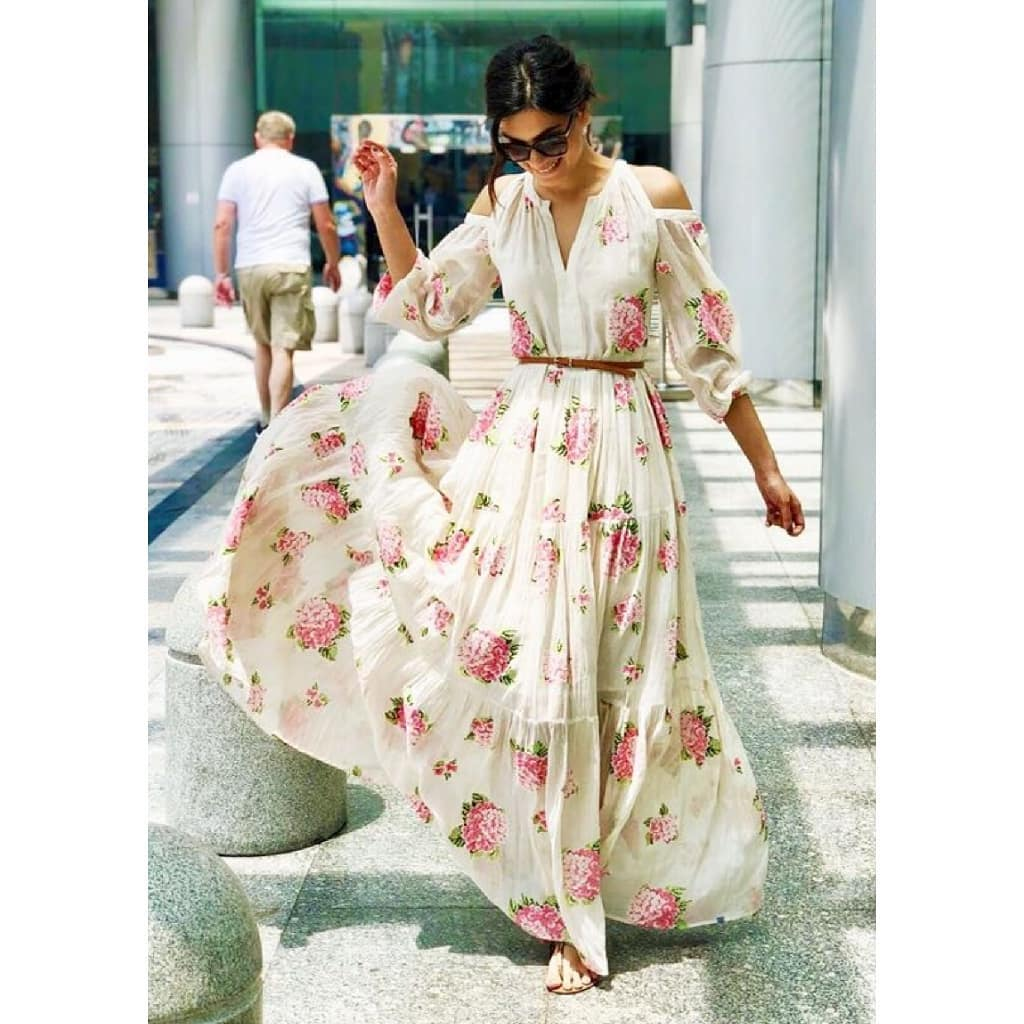 10 dresses - diana penty floral maxi dress