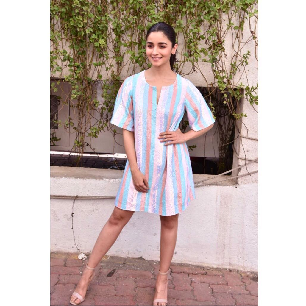 6 dresses - alia bhatt pastel sequins dress