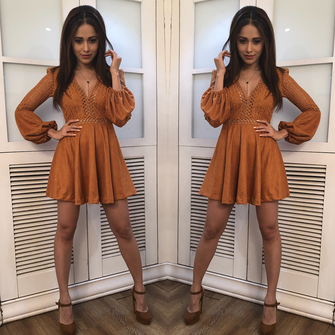 29 dresses - nushrat bharucha rust mini dress