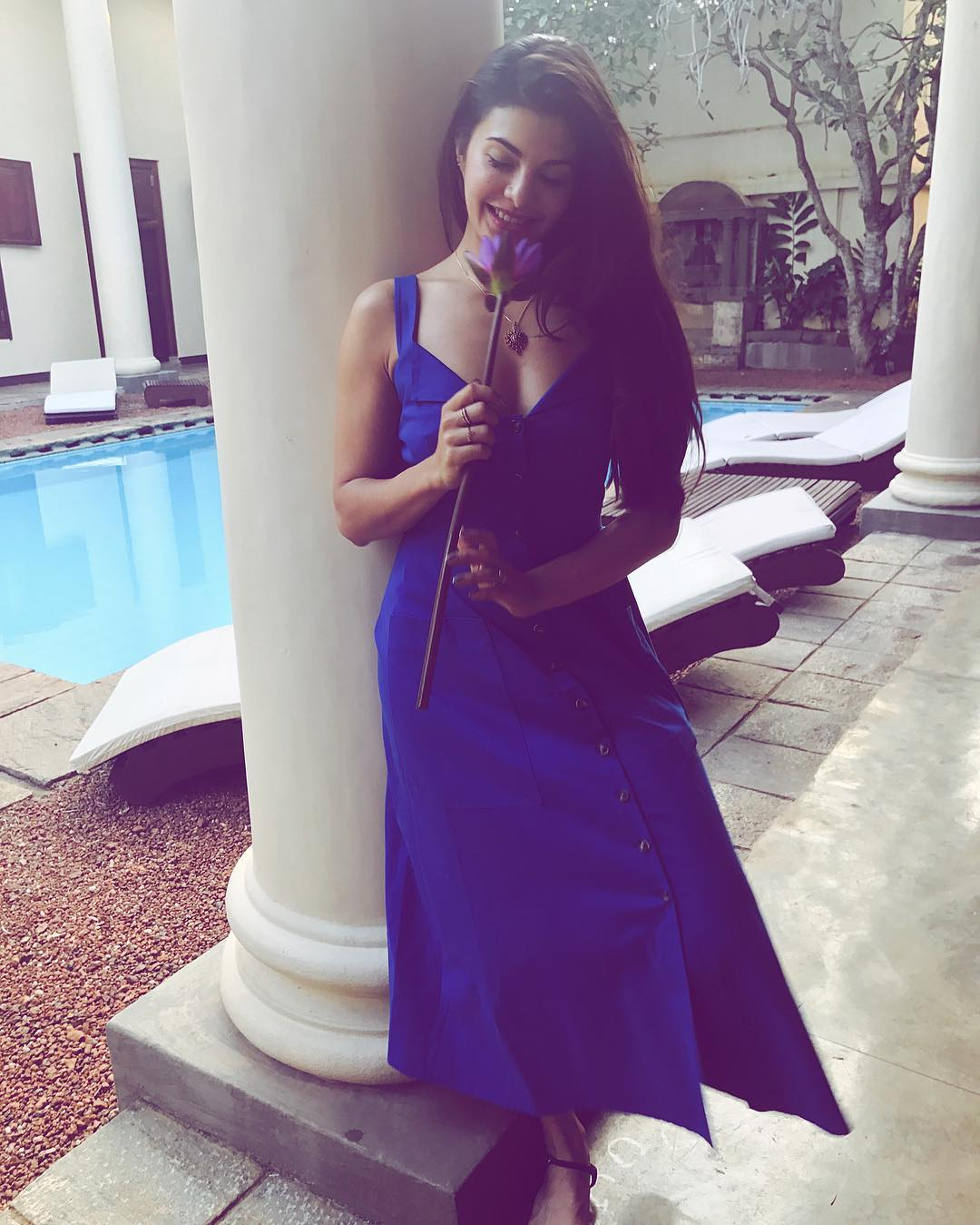 31 dresses - jacqueline fernandez blue dress