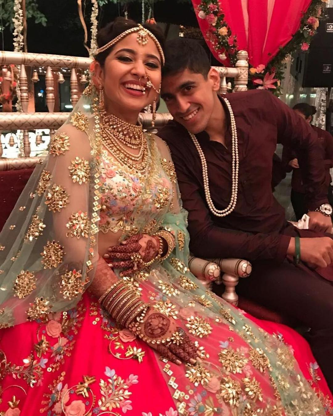 3 shweta tripathi wedding - close up of the bride and groom