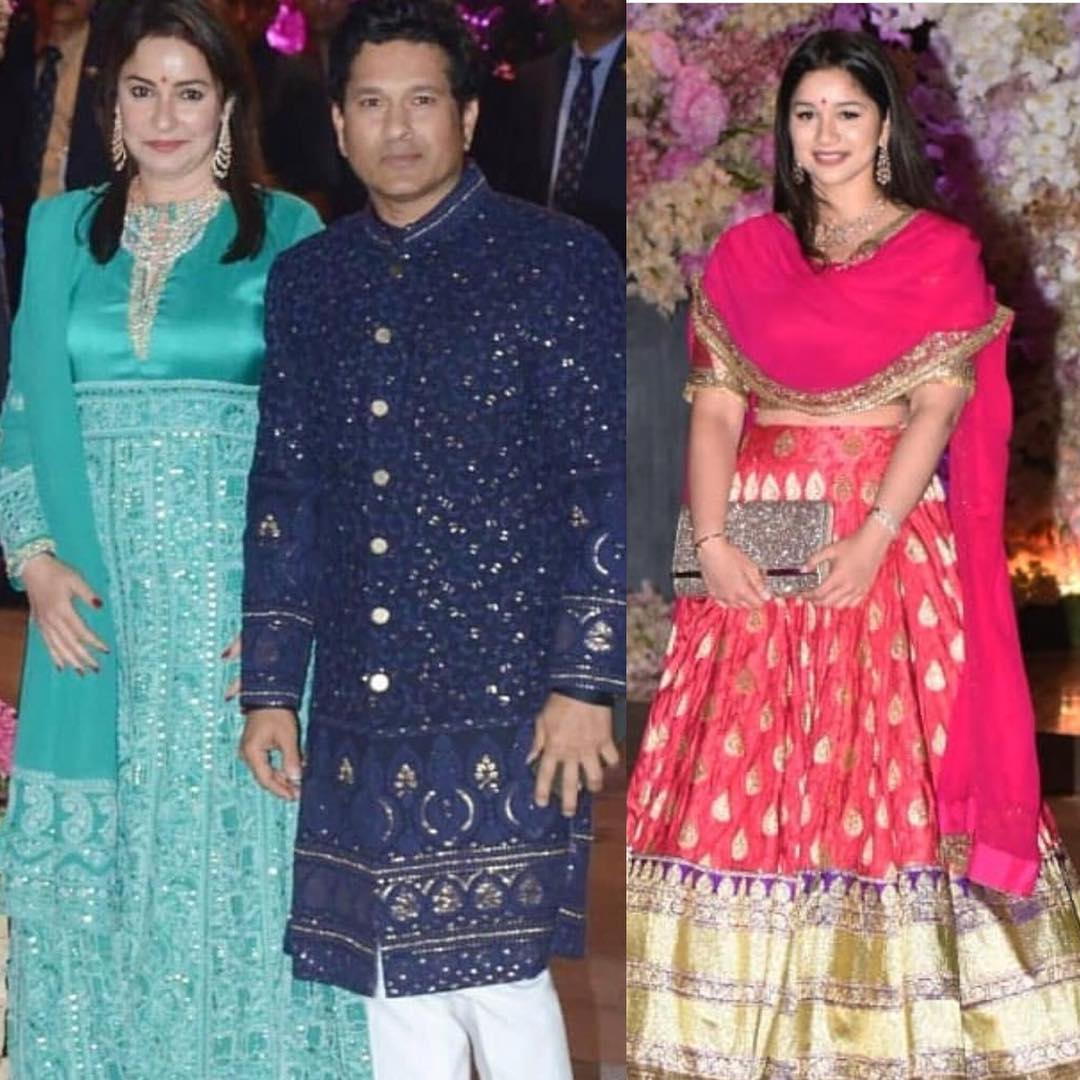 anjali and sara tendulkar ambani engagement star kids vs parent