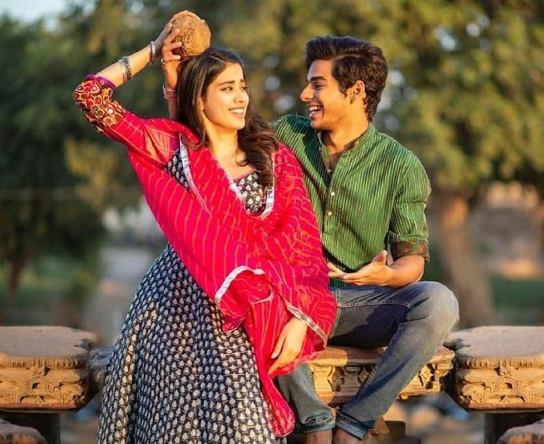 3 black and pink janhvi rajasthani look in dhadak