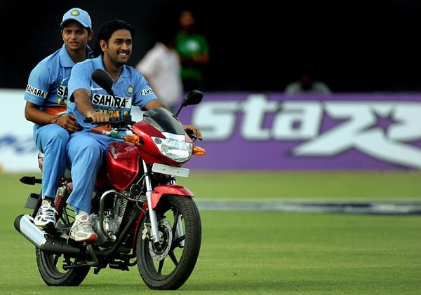 1 dhoni - suresh raina mahendra singh dhoni riding bike throwback instagram
