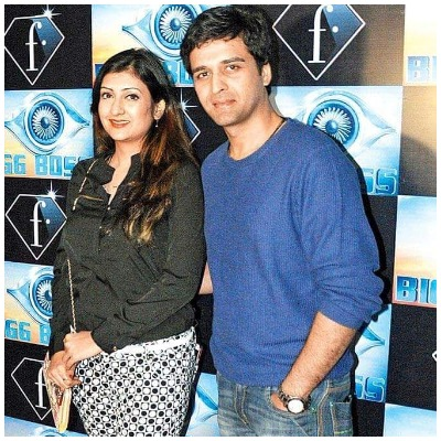 Sachin Shroff and Juhi Parmar in Bigg Boss