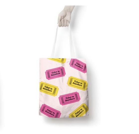 Ticket to anywhere tote