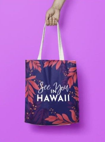 see you in hawaii tote