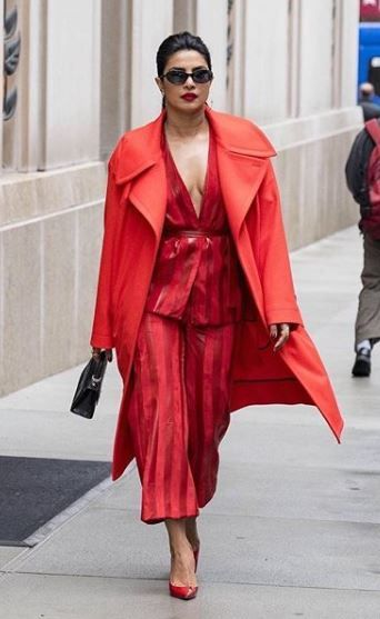 Priyanka Red Coat