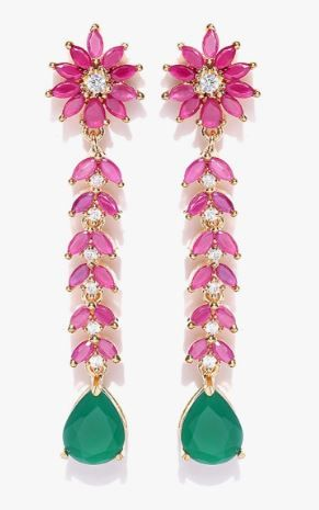 7 earrings jabong  pink indian pieces