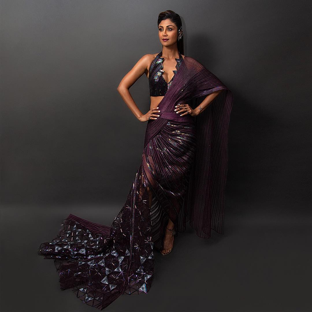 1 shilpa shetty ICW saree