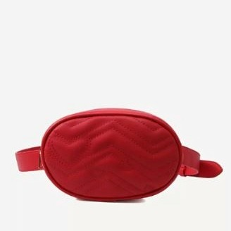 1 alia bhatt - red quilted detail fanny pack