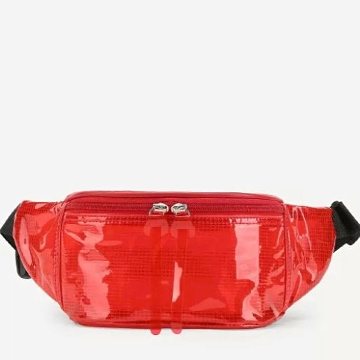 2 alia bhatt - red clear detail fanny pack