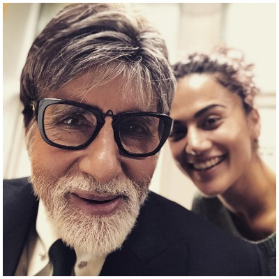 Taapsee Pannu with Amitabh Bachchan